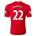 Liverpool 15/16 MIGNOLET Home Soccer Jersey