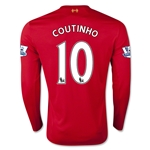 Liverpool 15/16 COUTINHO LS Home Soccer Jersey