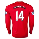 Liverpool 15/16 HENDERSON LS Home Soccer Jersey