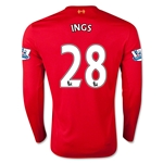 Liverpool 15/16 INGS LS Home Soccer Jersey