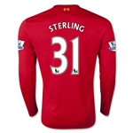 Liverpool 15/16 STERLING LS Home Soccer Jersey