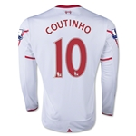 Liverpool 15/16 COUTINHO LS Away Soccer Jersey