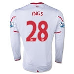 Liverpool 15/16 INGS LS Away Soccer Jersey