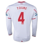 Liverpool 15/16 TOURE LS Away Soccer Jersey