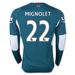 Liverpool 15/16 MIGNOLET LS Away Keeper Jersey