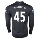 Liverpool 15/16 BALOTELLI LS Third Soccer Jersey