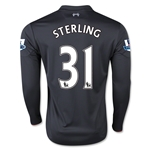 Liverpool 15/16 STERLING LS Third Soccer Jersey