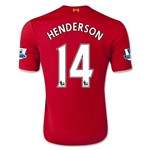 Liverpool 15/16 HENDERSON Youth Home Soccer Jersey