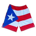 Puerto Rico Flag Sublimated Lacrosse Shorts
