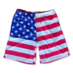 American Flag Sublimated Lacrosse Shorts