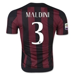 AC Milan 15/16 MALDINI Authentic Home Soccer Jersey