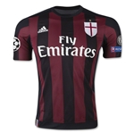 AC Milan 15/16 UCL Authentic Home Soccer Jersey