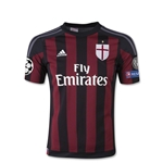 AC Milan 15/16 UCL Youth Home Soccer Jersey
