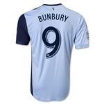 Sporting KC 2014 BUNBURY Authentic Primary Soccer Jersey
