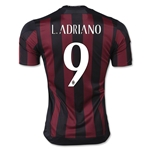 AC Milan 15/16 L. ADRIANO UCL Home Soccer Jersey