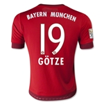 Bayern Munich 15/16 GOTZE Youth Home Soccer Jersey