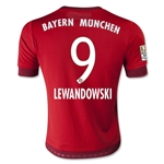 Bayern Munich 15/16 LEWANDOWSKI Youth Home Soccer Jersey