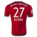 Bayern Munich 15/16 ALABA Authentic Home Soccer Jersey