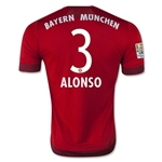 Bayern Munich 15/16 ALONSO Authentic Home Soccer Jersey