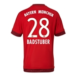 Bayern Munich 15/16 BADSTUBER Authentic Home Soccer Jersey