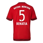 Bayern Munich 15/16 BENATIA Authentic Home Soccer Jersey