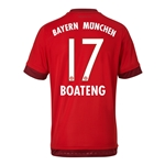 Bayern Munich 15/16 BOATENG Authentic Home Soccer Jersey