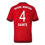 Bayern Munich 15/16 DANTE Authentic Home Soccer Jersey
