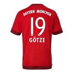 Bayern Munich 15/16 GOTZE Authentic Home Soccer Jersey