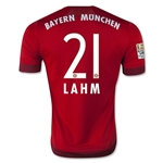 Bayern Munich 15/16 LAHM Authentic Home Soccer Jersey