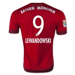 Bayern Munich 15/16 LEWANDOWSKI Authentic Home Soccer Jersey