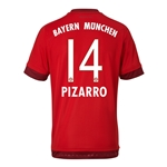 Bayern Munich 15/16 PIZARRO Authentic Home Soccer Jersey
