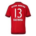Bayern Munich 15/16 RAFINHA Authentic Home Soccer Jersey