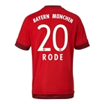 Bayern Munich 15/16 RODE Authentic Home Soccer Jersey