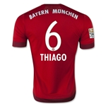 Bayern Munich 15/16 THIAGO Authentic Home Soccer Jersey