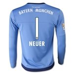 Bayern Munich 15/16 Youth Home NEUER Goalkeeper Soccer Jersey