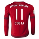 Bayern Munich 15/16 COSTA LS Youth Home Soccer Jersey
