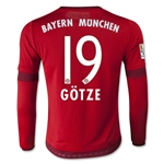 Bayern Munich 15/16 GOTZE LS Youth Home Soccer Jersey