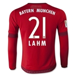 Bayern Munich 15/16 LAHM Youth LS Home Soccer Jersey