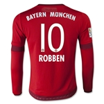 Bayern Munich 15/16 ROBBEN Youth LS Home Soccer Jersey