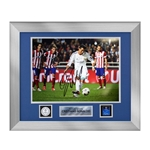 Official UEFA Champions League Cristiano Ronaldo Signed, Framed Real Madrid Photo Final Penalty