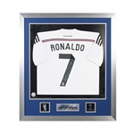 Official UEFA Champions League Cristiano Ronaldo Signed, Framed Real Madrid 14/15 Jersey