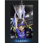 Official UEFA Champions League Juan Mata Signed Chelsea Photo in Deluxe Packaging 2012 Winners