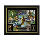 Official FIFA World Cup James Rodriguez Signed, Framed Colombia Poster Golden Boot winner