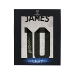 Official UEFA Champions League James Rodriguez Signed, Framed Real Madrid 14/15 Jersey