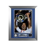 Official UEFA Champions League Luis Figo Signed and Framed Real Madrid Photo 2002 Final