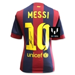 Leo Messi Signed Barcelona 14/15 Home Jersey