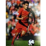 Philippe Coutinho Signed Liverpool Unframed Photo