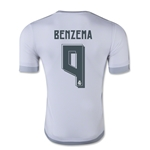 Real Madrid 15/16 BENZEMA Authentic Home Soccer Jersey