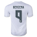 Real Madrid 15/16 BENZEMA Home Soccer Jersey
