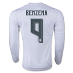 Real Madrid 15/16 BENZEMA LS Home Soccer Jersey